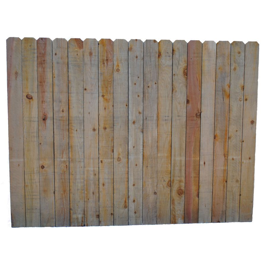 Actual 6 Ft X 8 Ft Brown Cedar Post And Rail Dog Ear Wood Fence