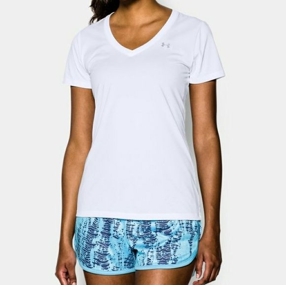 Womens White Under Armour Top Nwt Pinterest Armours Gray And