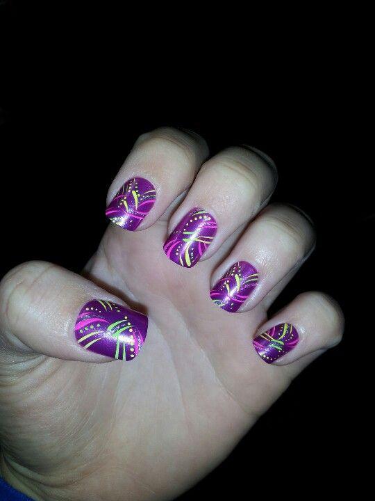 Impress press on manicure :)