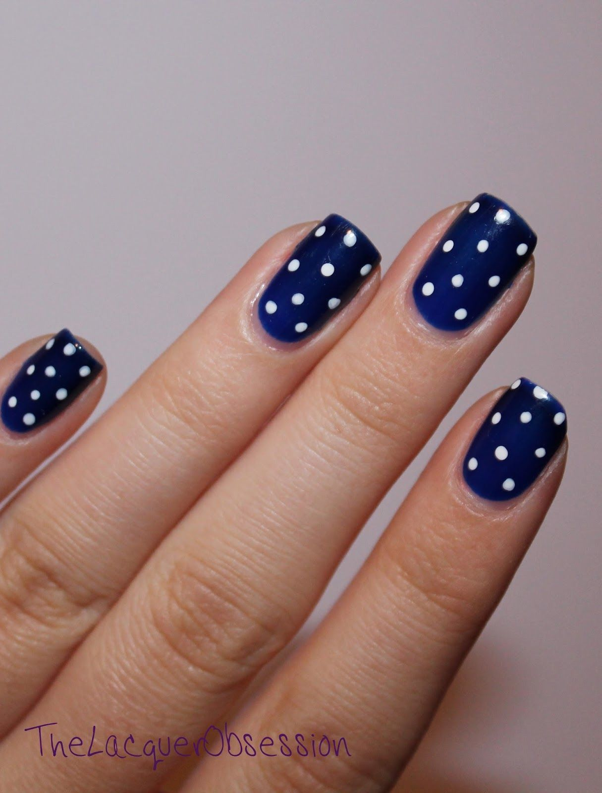 Blue dark and white nails pictures