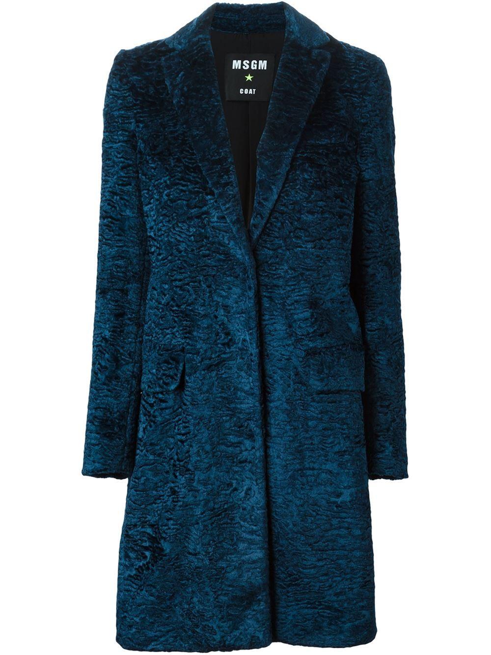 Msgm Astrakan Coat - Zoe Fashion