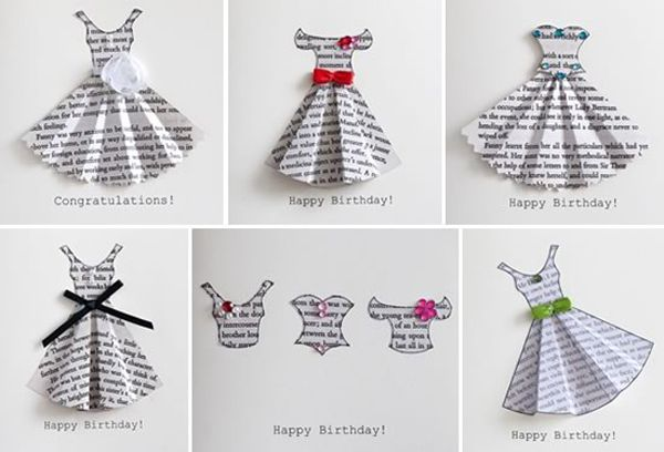 Открытка маме на день рождения своими руками платье