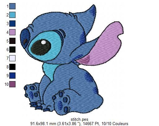 Ho stitch broderie pinterest broderie - Telecharger lilo et stitch ...