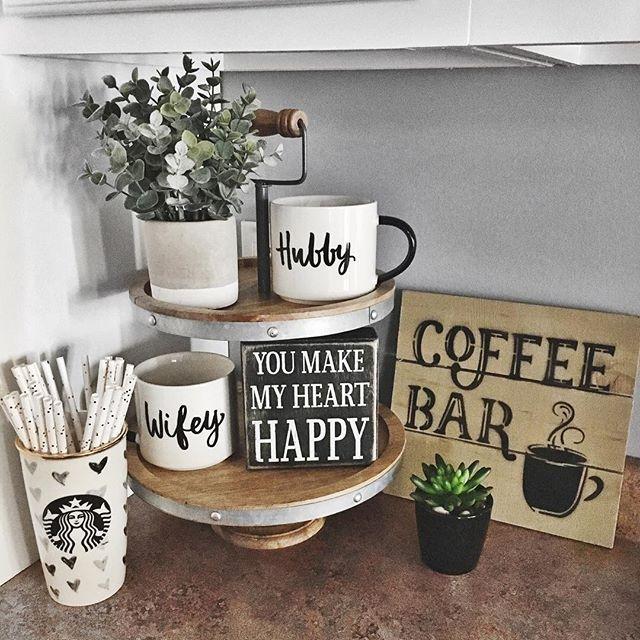 27 Brilliant Small Kitchen Design Ideas: #Coffee Station Ideas You Need To See (coffee Bar Ideas) #Coffeebar #Coffeestation