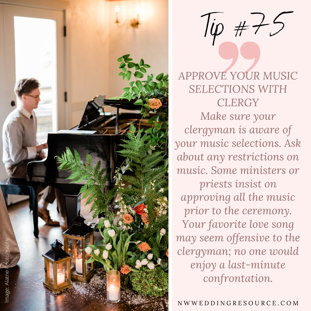 Wedding Tip 75 Approve Your Music Selections with