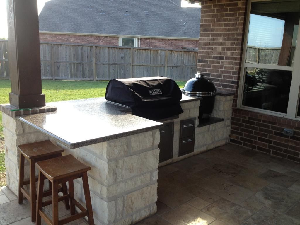 L Shaped Bbq Island For Big Green Egg Google Search