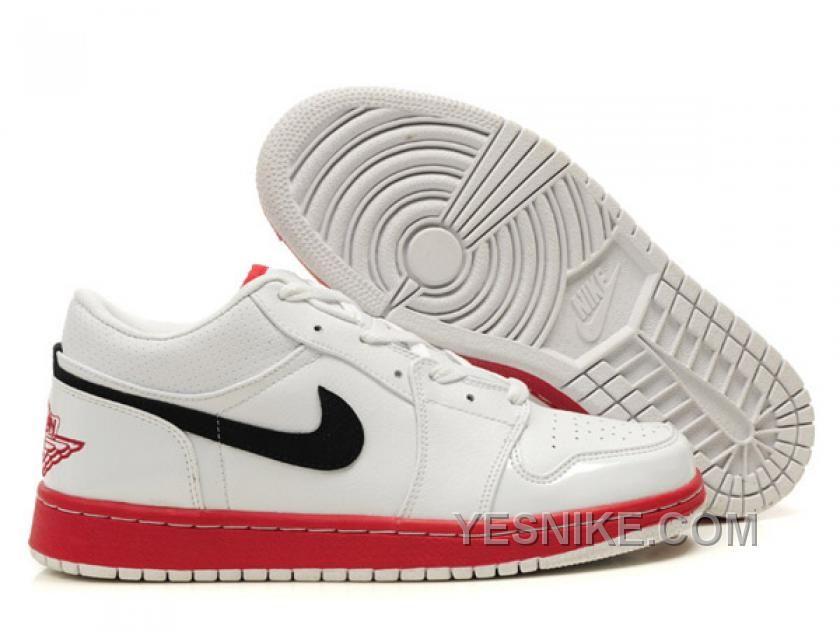 huge discount 570be fb3b8 Air Jordan 1 Low Blanc Rouge, Price   71.00 - Nike Shoes, Air Jordan shoes