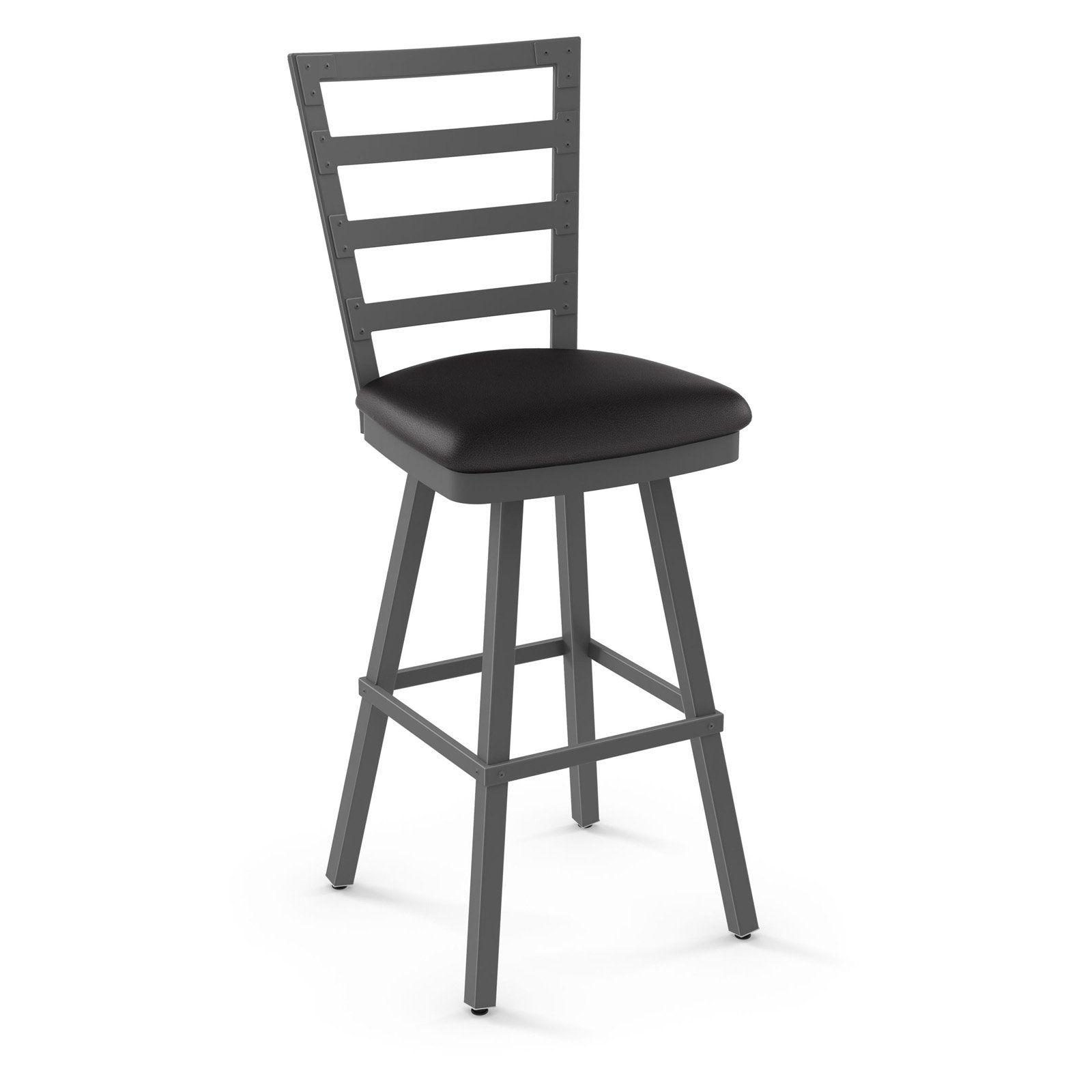 Tremendous Amisco Century Swivel Metal Bar Stool Charcoal Black In 2019 Ibusinesslaw Wood Chair Design Ideas Ibusinesslaworg