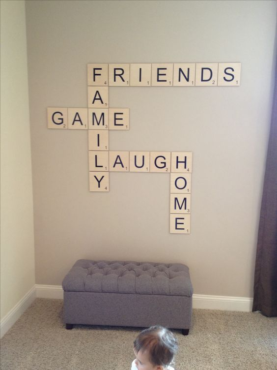 DIY Scrabble Decor, any words you want, family, friend, game night
