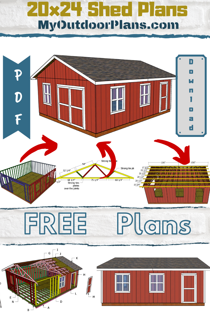 How To Build A 20x24 Shed In 2020 Shed Plans Diy Shed Shed