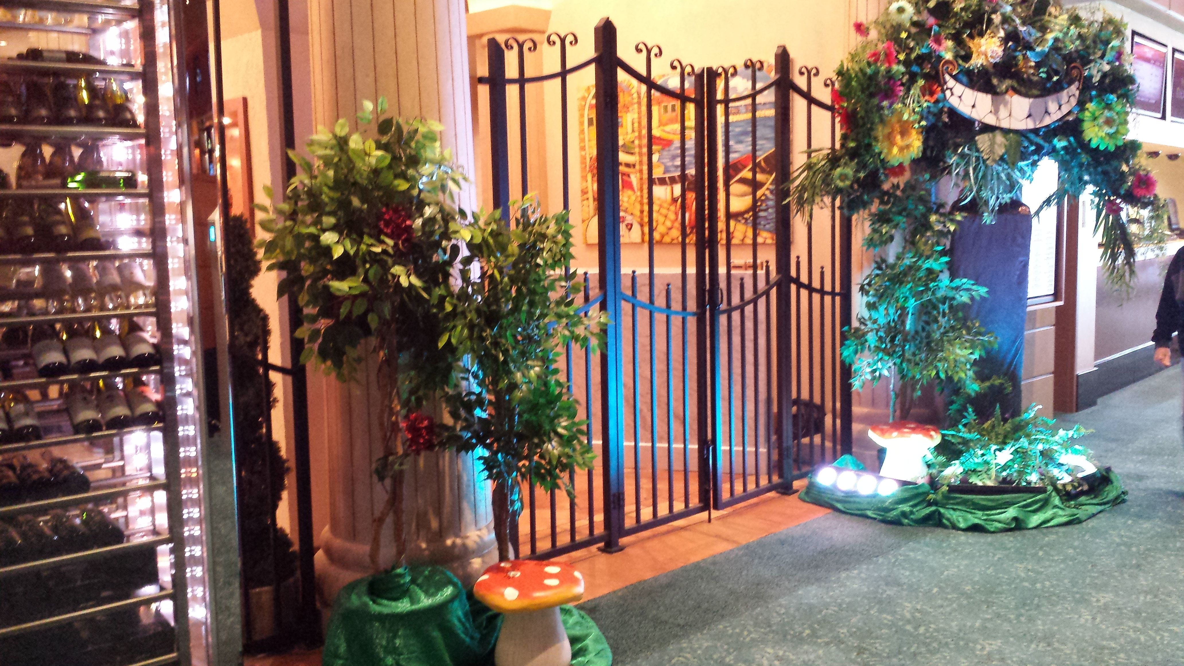 Alice in Wonderland Theme Event Decor and Props, built and designed in house by Sixth Star Entertainment. www.sixthstarentertainment.com 954-462-6760