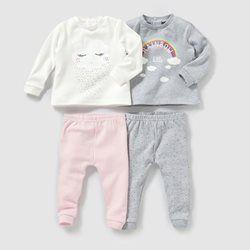 pyjama 2 pi ces interlock lot de 2 0 3 ans r baby b b. Black Bedroom Furniture Sets. Home Design Ideas