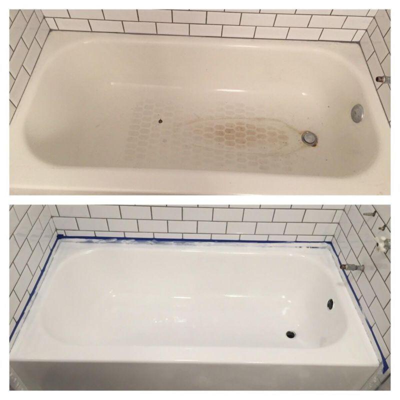 Rust Oleum Tub Tile Refinishing Kit Porcelain Paint Bathtub Bathroom Enamel Coat