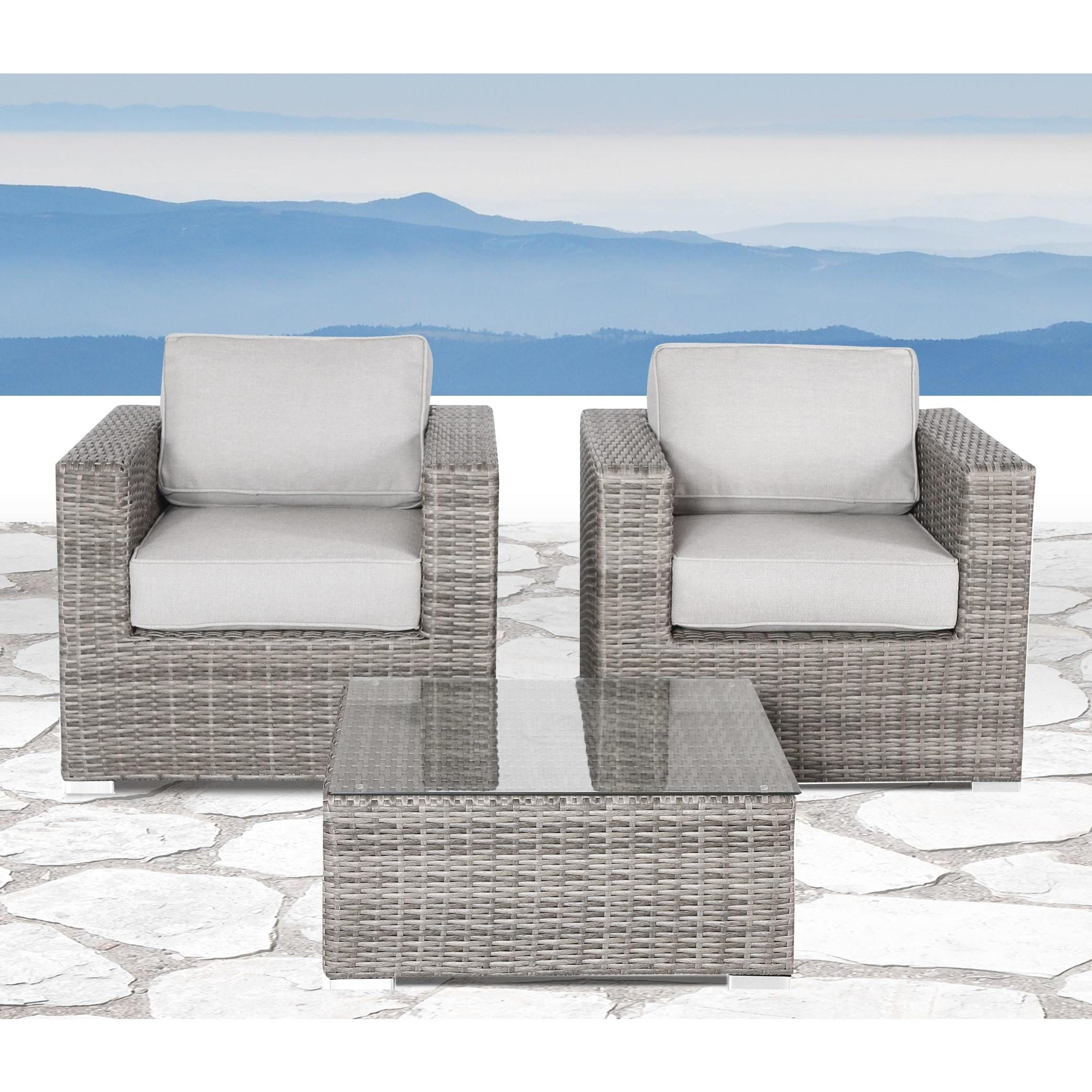 Verona 3 piece Deep Seating Group with Cushion by Living Source