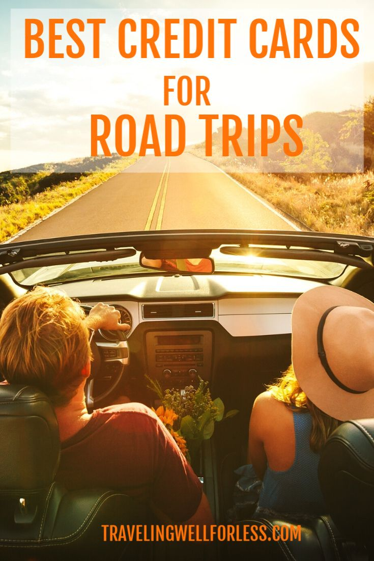 Planning a road trip? These cards give you the most benefits, cash back and points whether you're road tripping for fun or work.   | travel | best credit cards for road trips | travel hacking | travel hacks | #travelwell4less | road trip credit cards