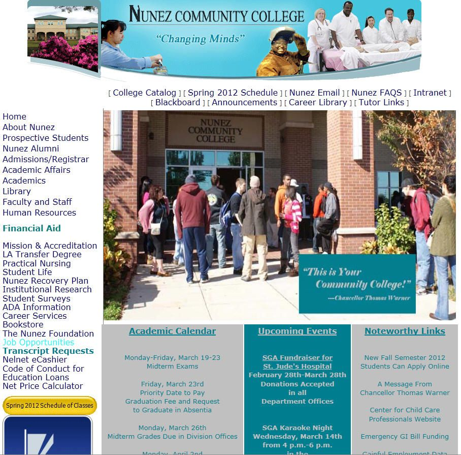 Nunez Community College Community College College Faculty And