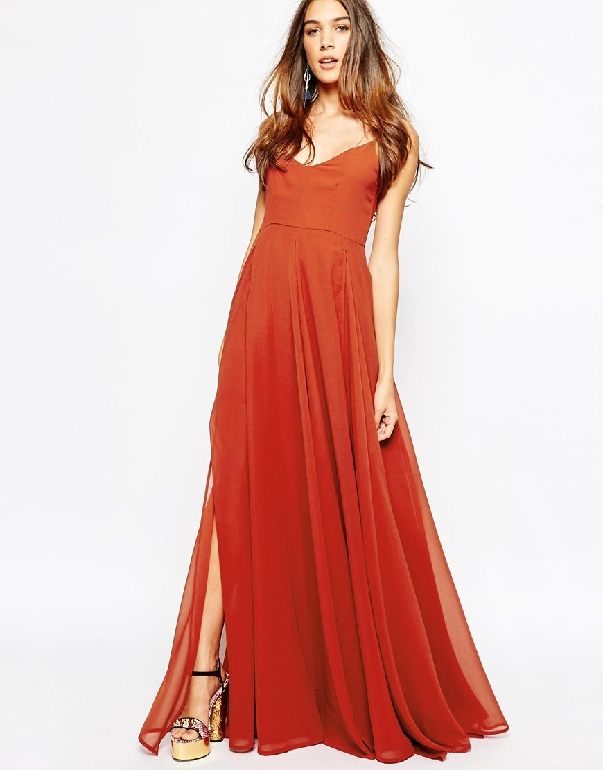 Image of fallen star layered maxi dress in bold ginger dresses