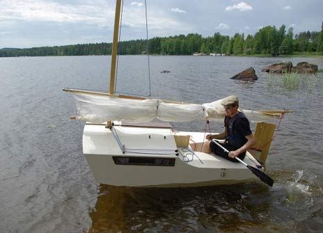 Ocean Explorer 8ft Sailboat With Sleeping Cabin Boatbuilding