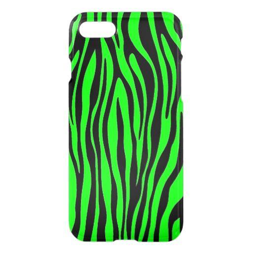 Lime Green Zebra iPhone 7 Case