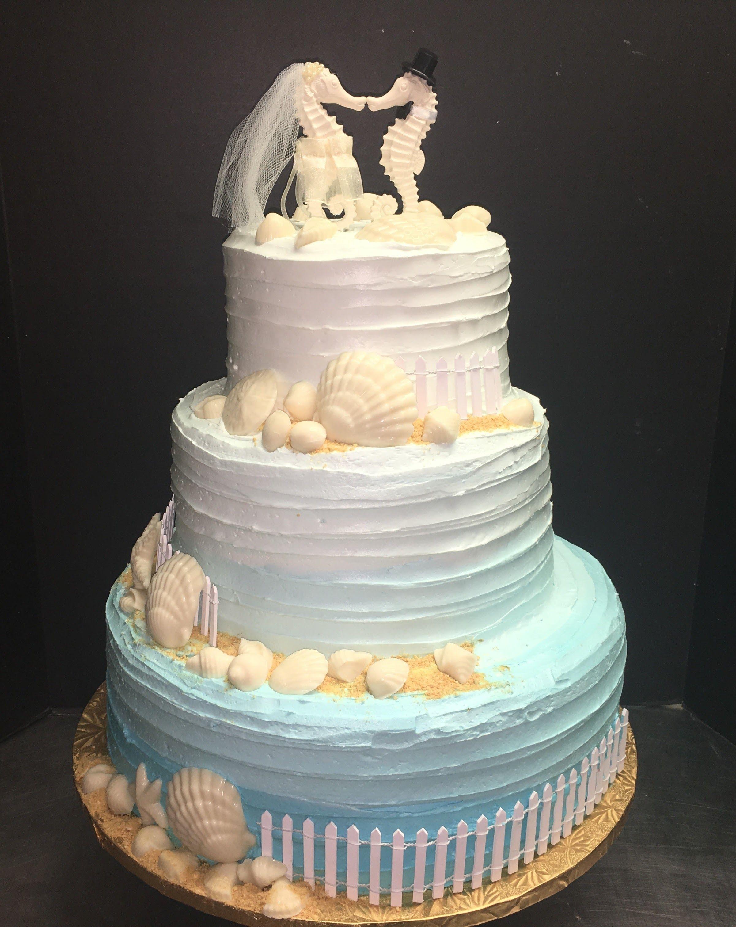 Rustic Beach Wedding Cake 93 Mueller S Bakery Beach Wedding