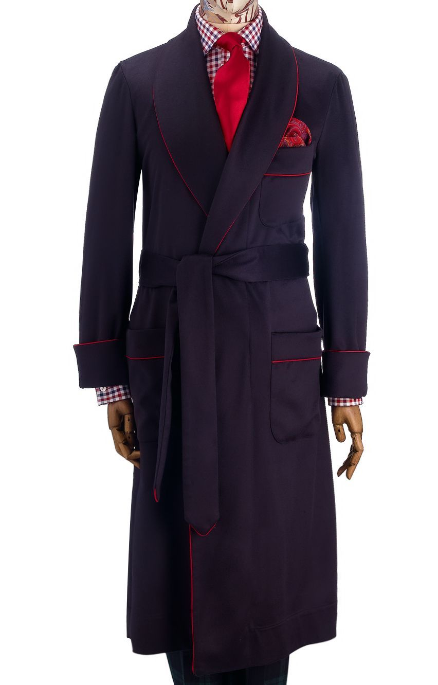b7ce8ec055 Navy Unlined Cashmere Dressing Gown in 2019