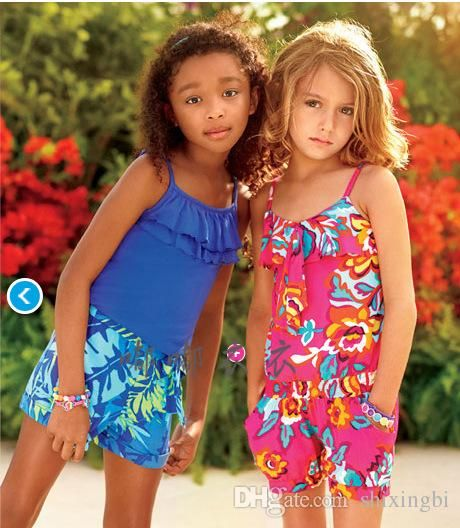 2015 New Summer Romper Children Baby Girls Floral Printed Sling Romper Jumpsuits Kids Clothing Girls Clothing Sets from Shixingbi,$9.57 | DHgate.com