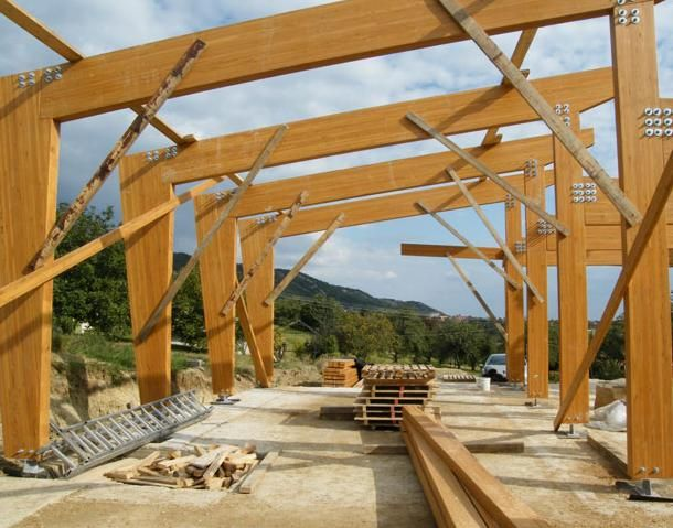 Laminated Wooden Truss ~ Glue laminated structure glued wood structural