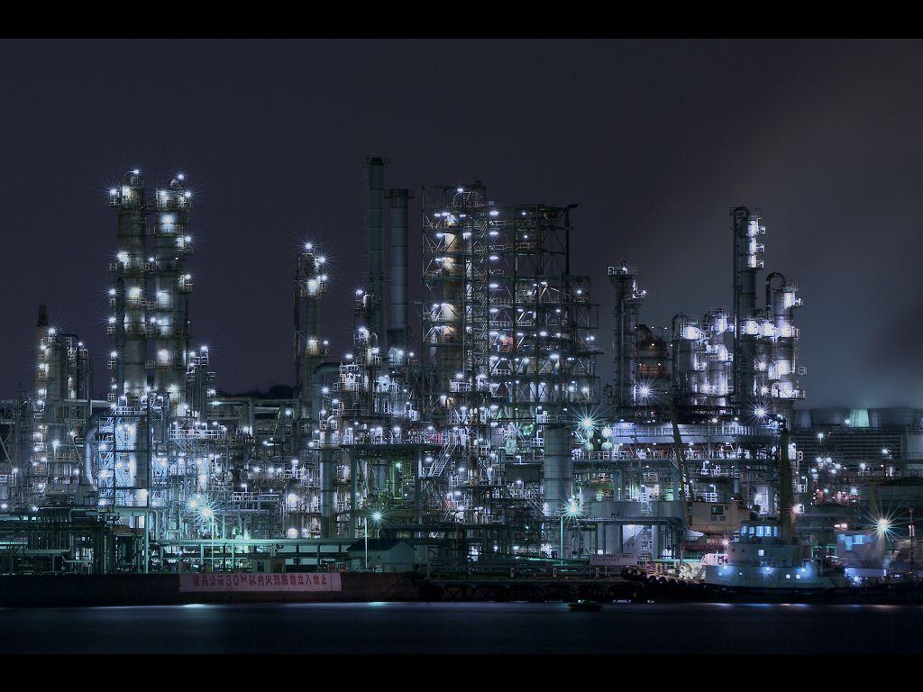 根岸工場夜景 Factory 工場 夜景 壁紙 夜景