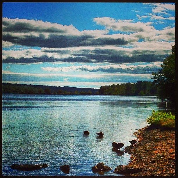 A peaceful day on Lake Nockamixon captured by @Gwendolyn