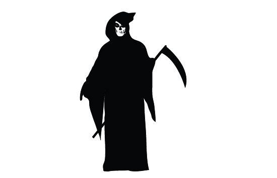 Free Grim Reaper Silhouette Vector Clip Art Silhouette Clip Art Silhouette Vector Silhouette Illustration