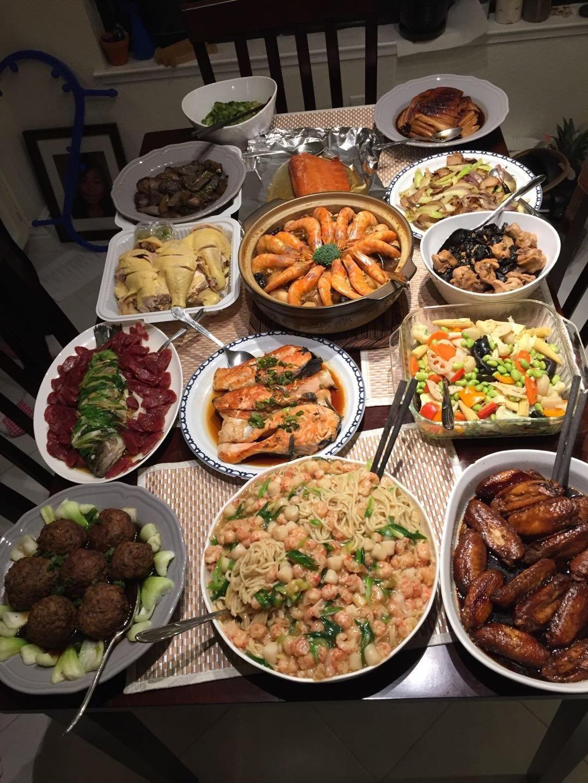 Chinese new year dinner dinner