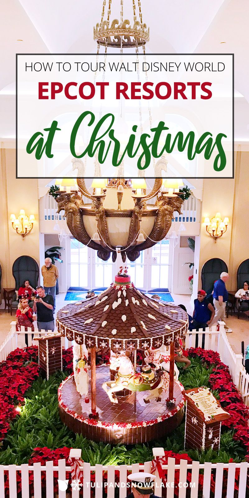 How To Tour Epcot Resorts At Christmas With Images Disney