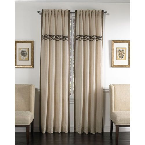 Celle Wheat And Silver 120 X 54 Inch Cotton Linen Curtain Single