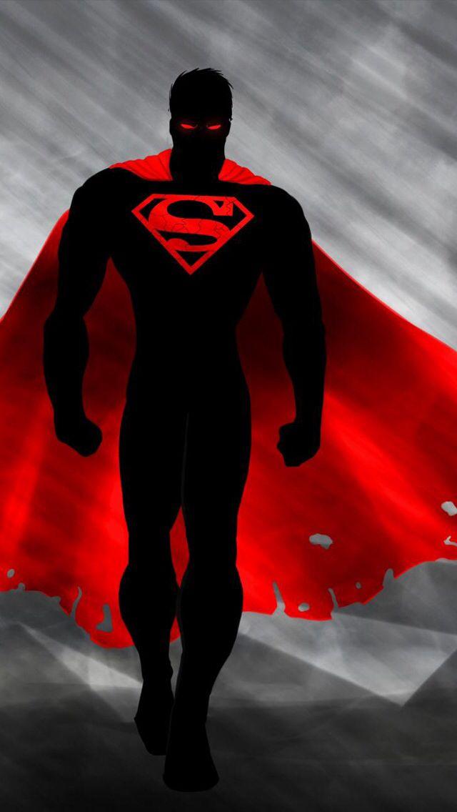 Black And Red Supes Superman Wallpaper Superhero Superhero Wallpaper Hd