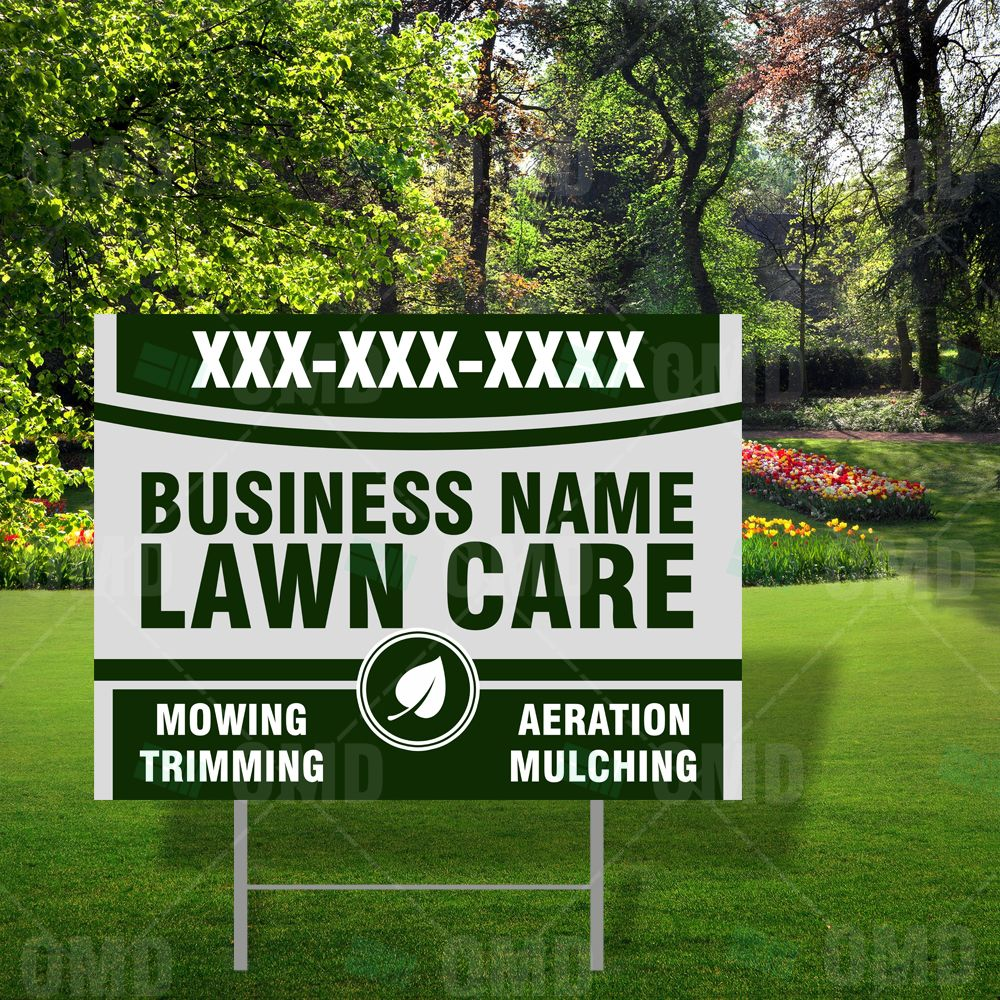 Lawn Care Business Yard Signs Available At The Market