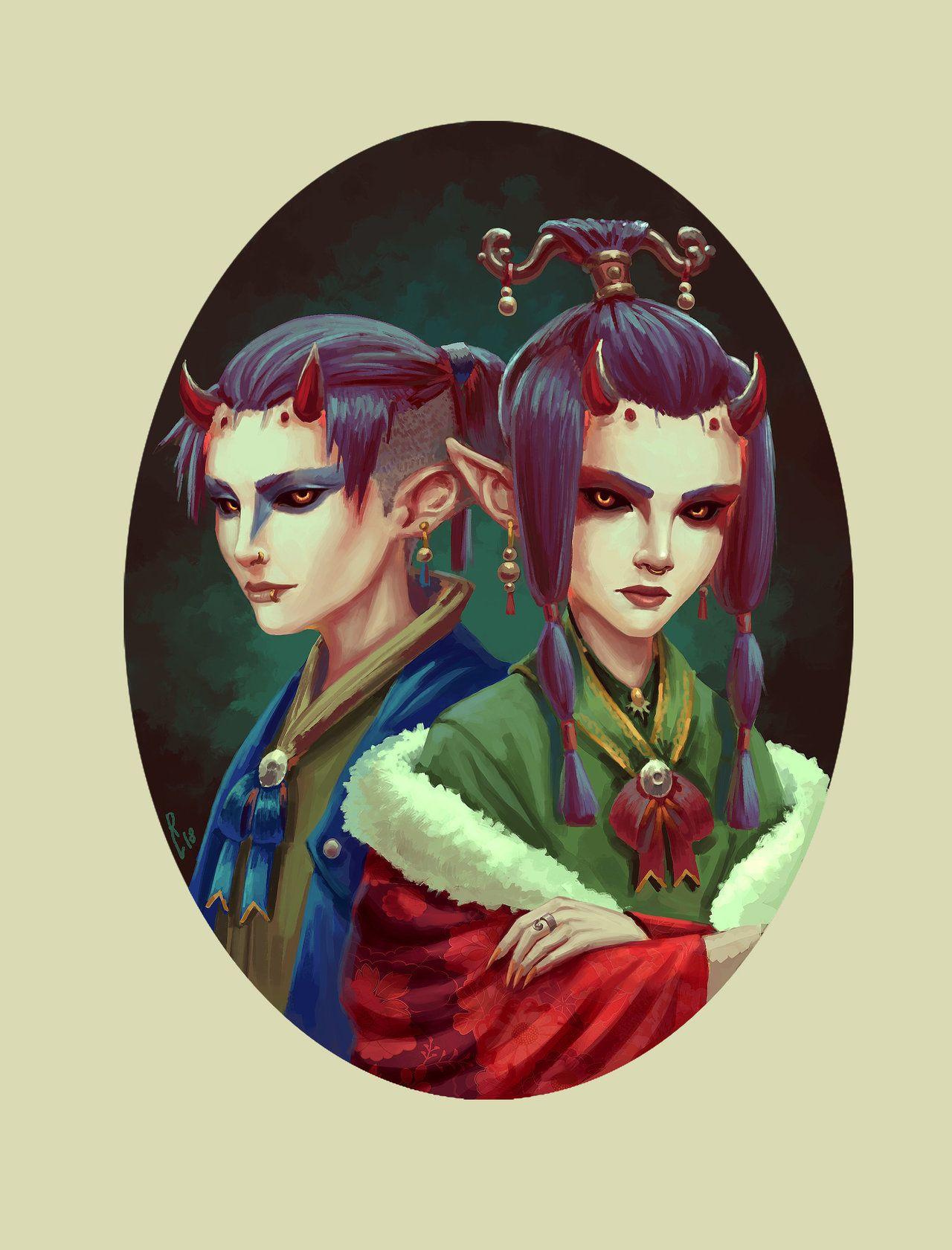 Demon Twin Fantasy Art