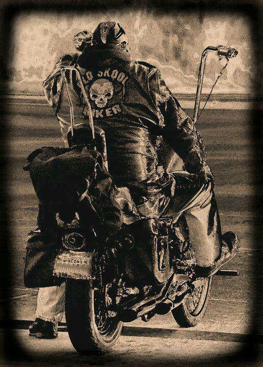 33cd5b40f Old Skool Biker | Harley Davidson | Harley davidson bikes, Biker ...
