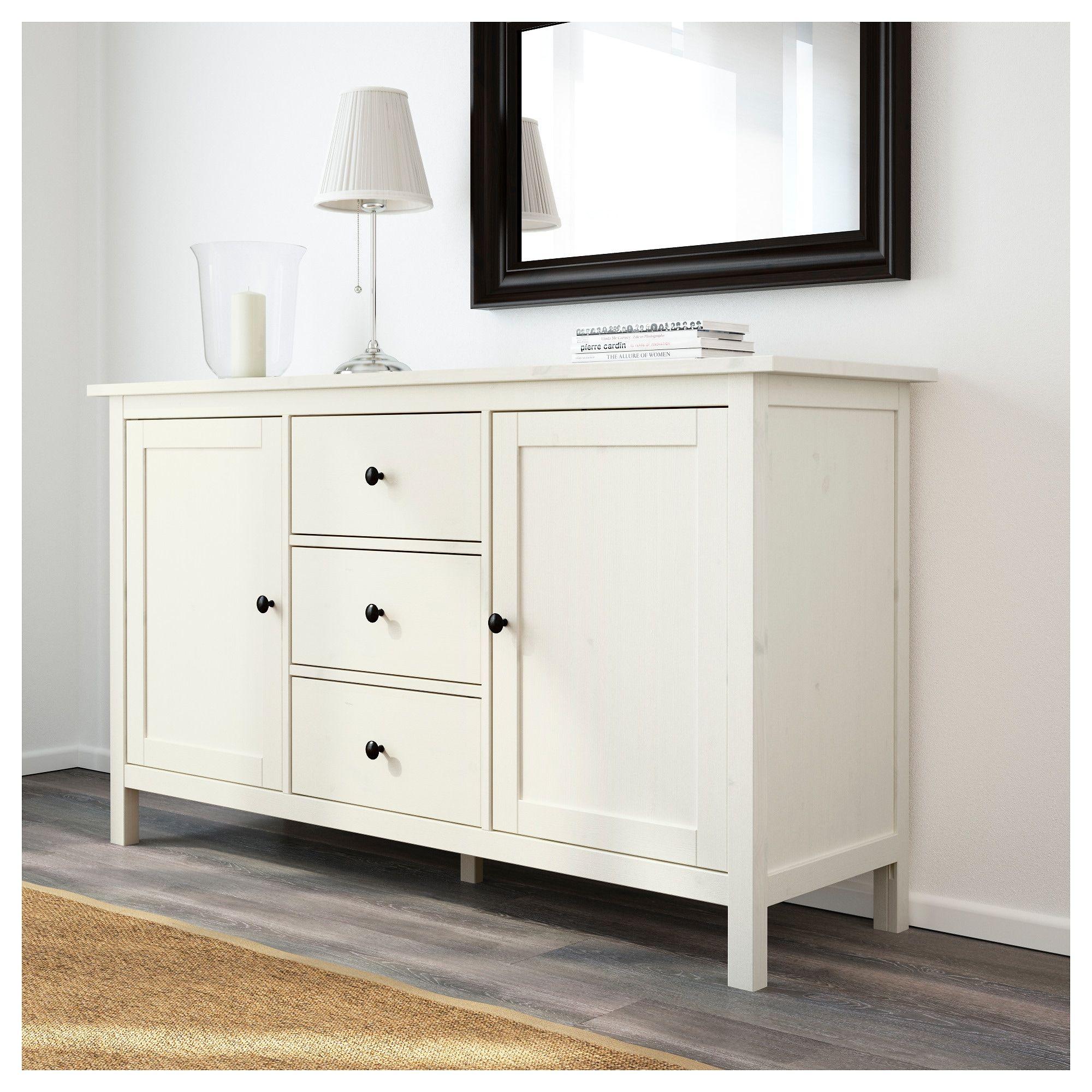 hemnes sideboard, white stain   for the home   pinterest   hemnes
