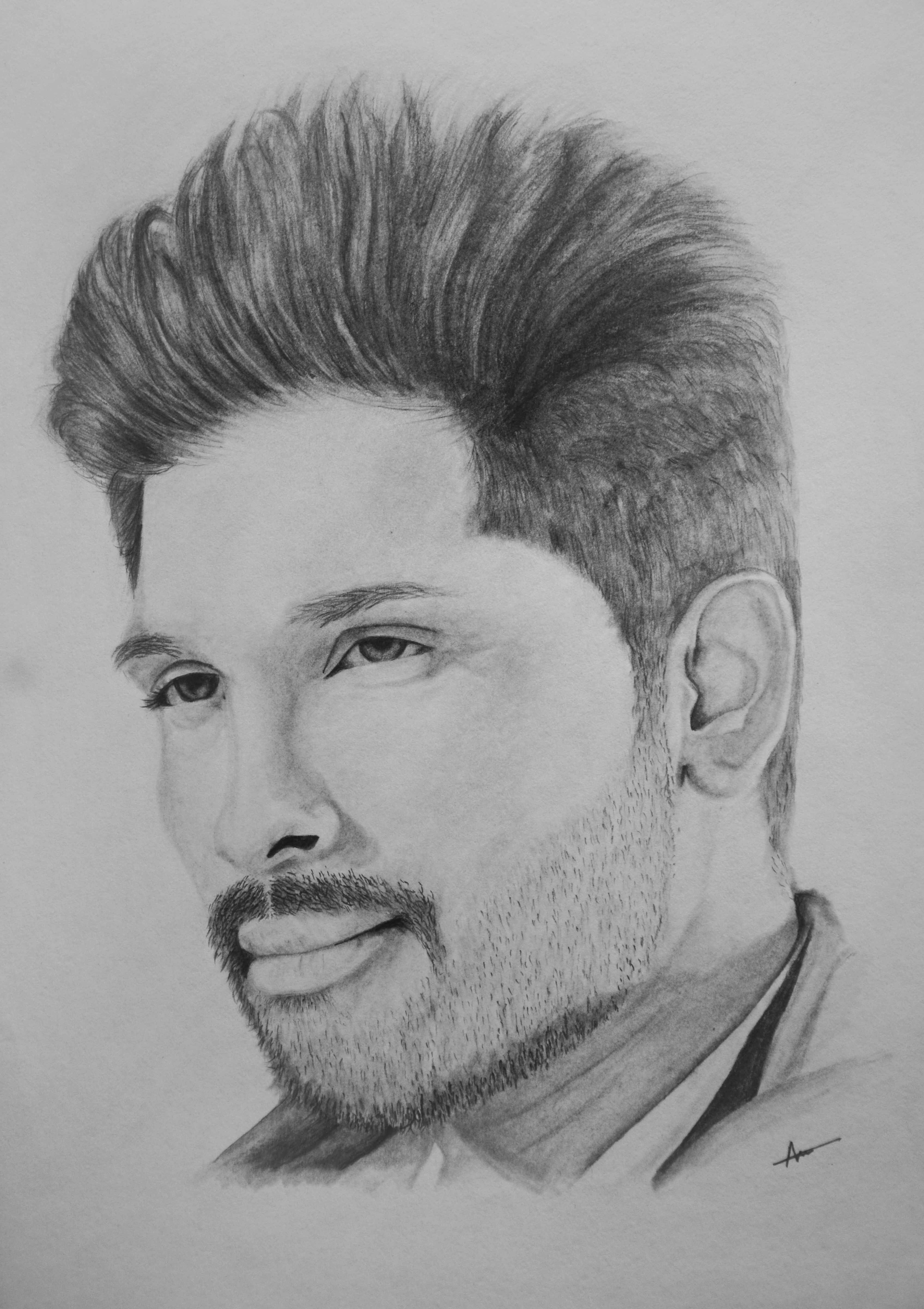 Allu Arjun Pencil Sketch Click The Link For The Full Video Pencil Sketch Pencil Drawings Of Girls Art Drawings Sketches Pencil