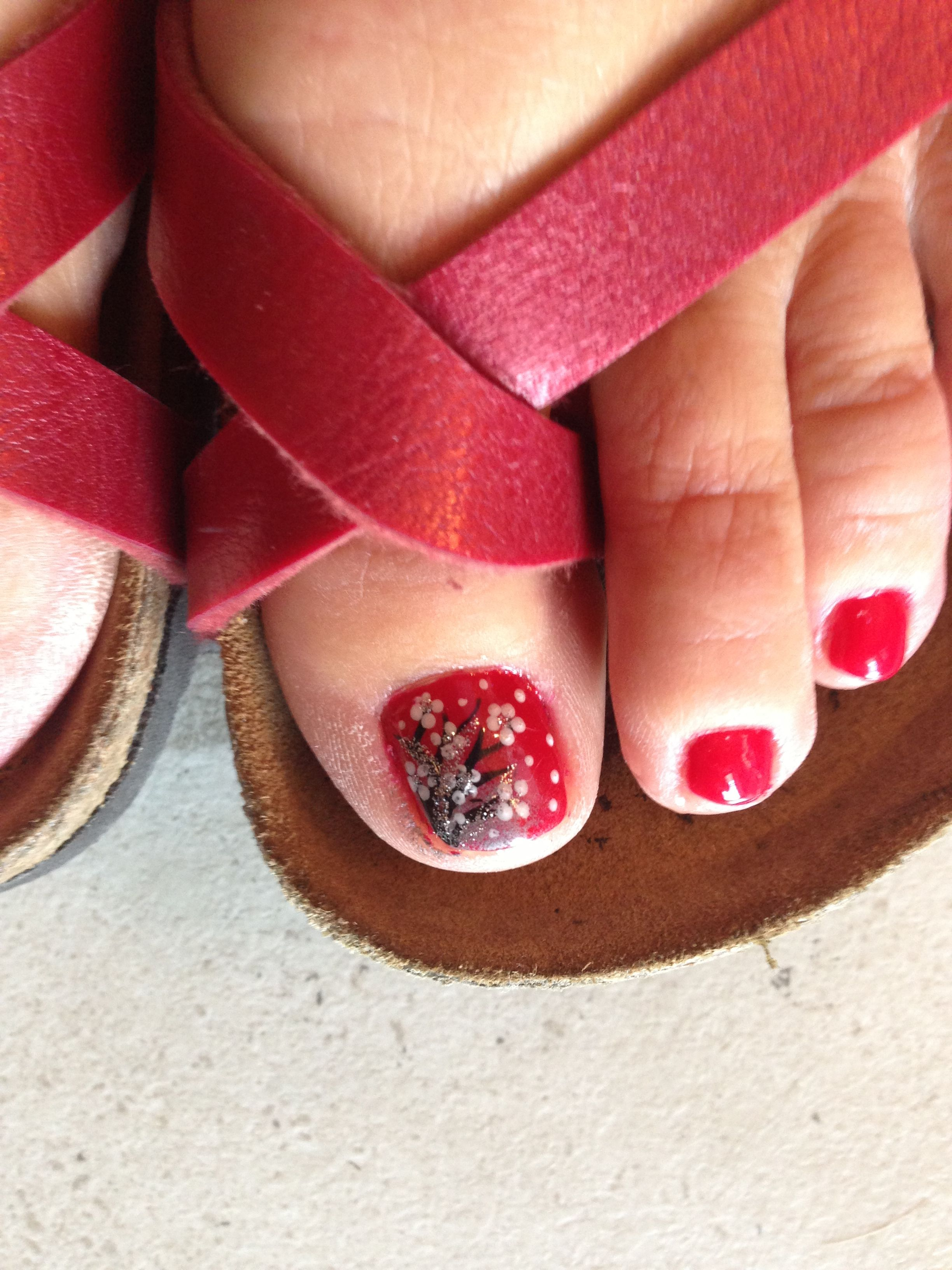 Cherry blossom toe nail design | Toe nail designs | Pinterest | Toe ...