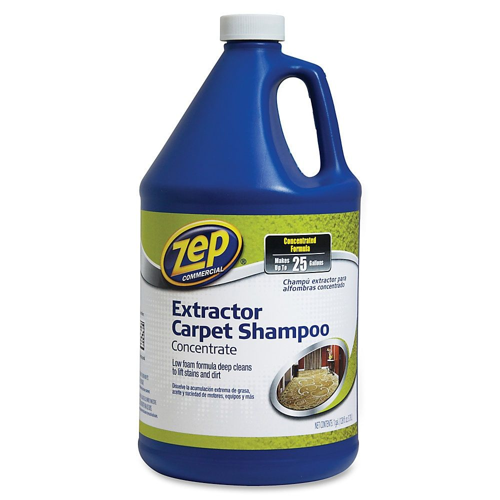 Zep Commercial Extractor Carpet Shampoo Concentrate Concentrate 1 Gal 128 Fl Oz 4 Carton Blue Cleaning Hacks Cleaning Professional Carpet Cleaning