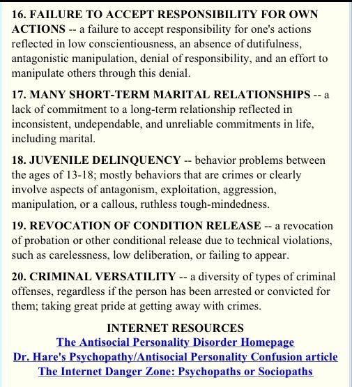 hare s checklist sociopath narcissist n is for narcissist
