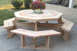 Free Picnic Table Plans Diy Picnic Table Octagon Picnic Table