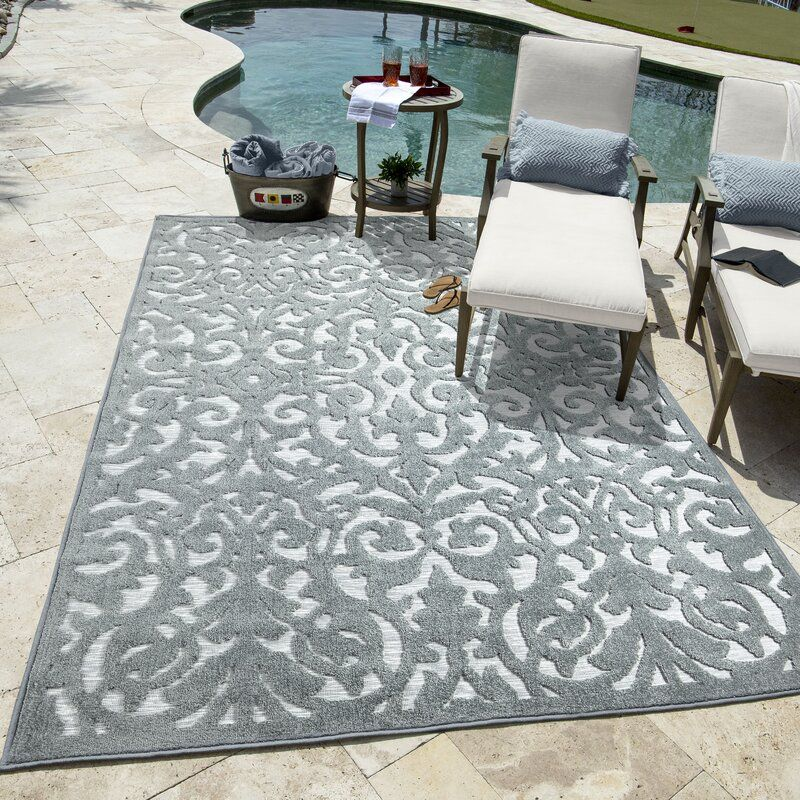 My Texas House By Orian Indoor Outdoor Lady Bird Harbor Blue Area Rug Neutral Flooring Orian Colorful Rugs