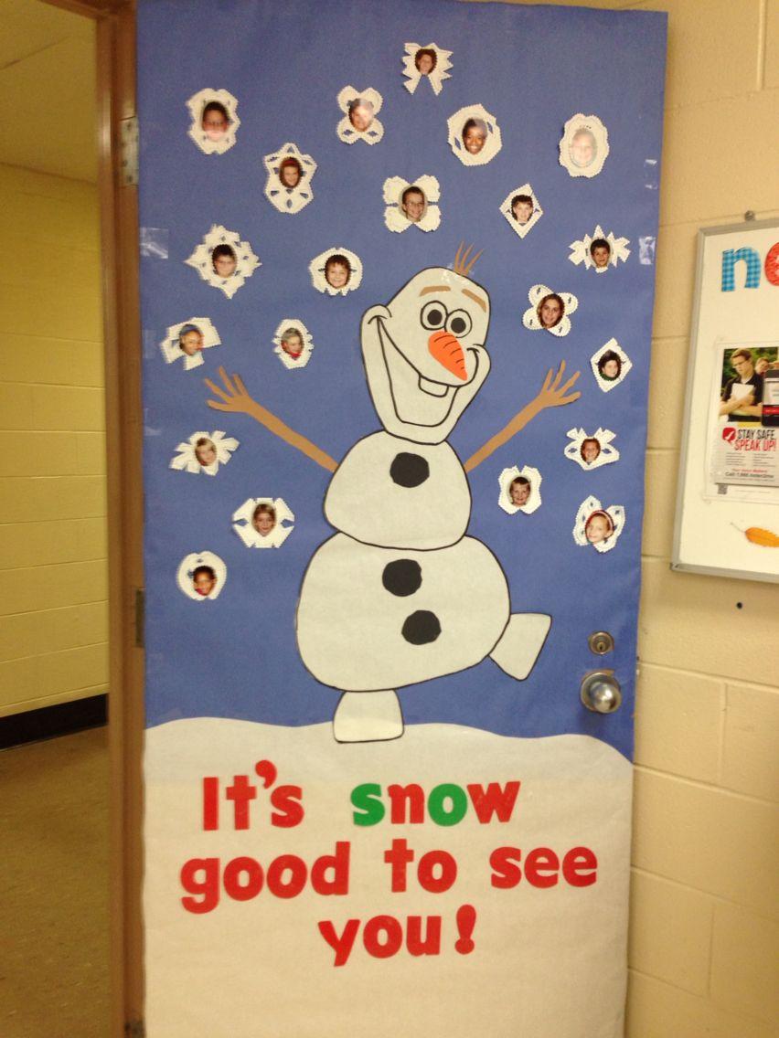 Frozen Classroom Theme Door Frozen Classroom Christmas Classroom Door Christmas Classroom
