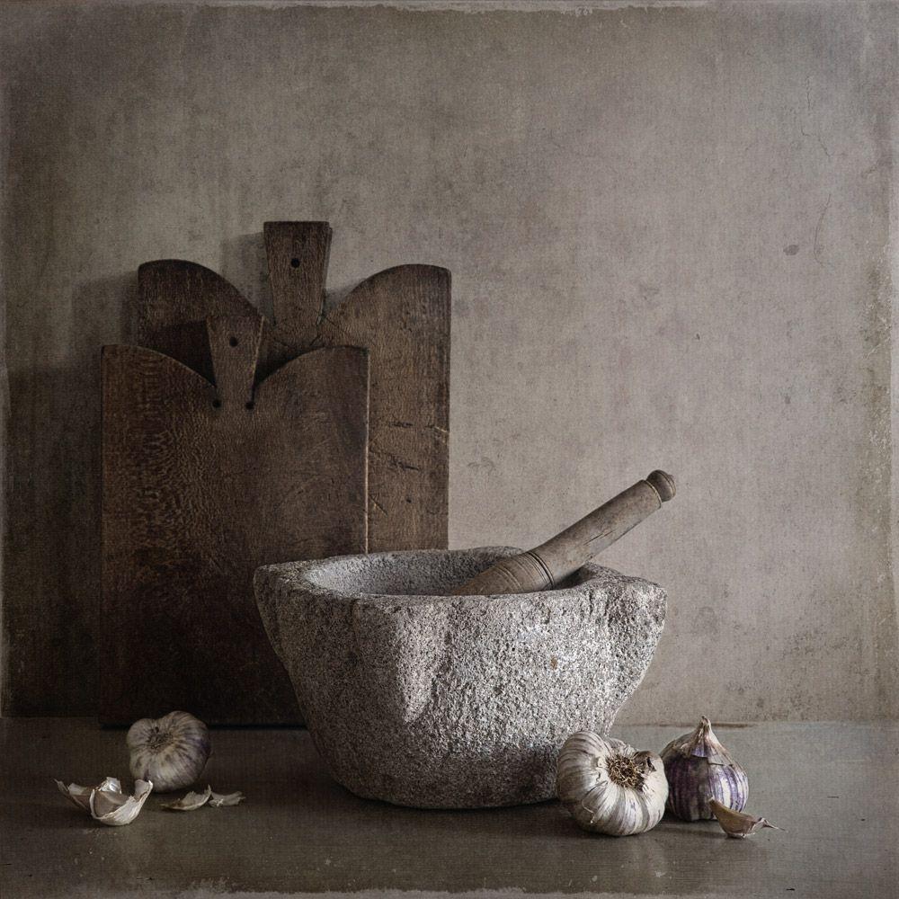 ❤ - Tineke Stoffels - Provençal Garlic And Mortar, processing by Tineke Stoffels
