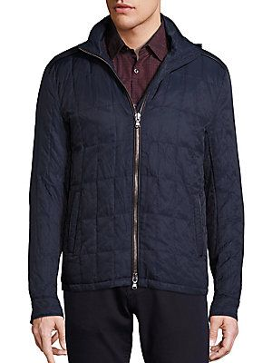 John Varvatos Star USA Quilted Elbow Patch Jacket