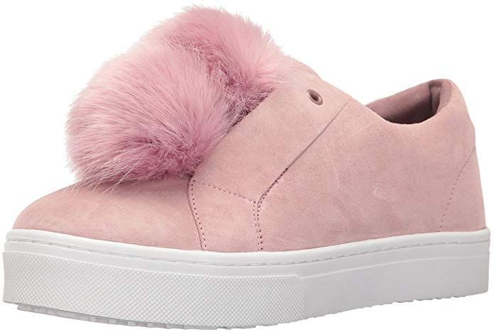 c6e40f80bfa8c8 Sam Edelman Women s Leya Fashion Sneaker Suede fashion sneaker with faux fur  pom pom detailSam Edelman shoes epitomize chic comfort.