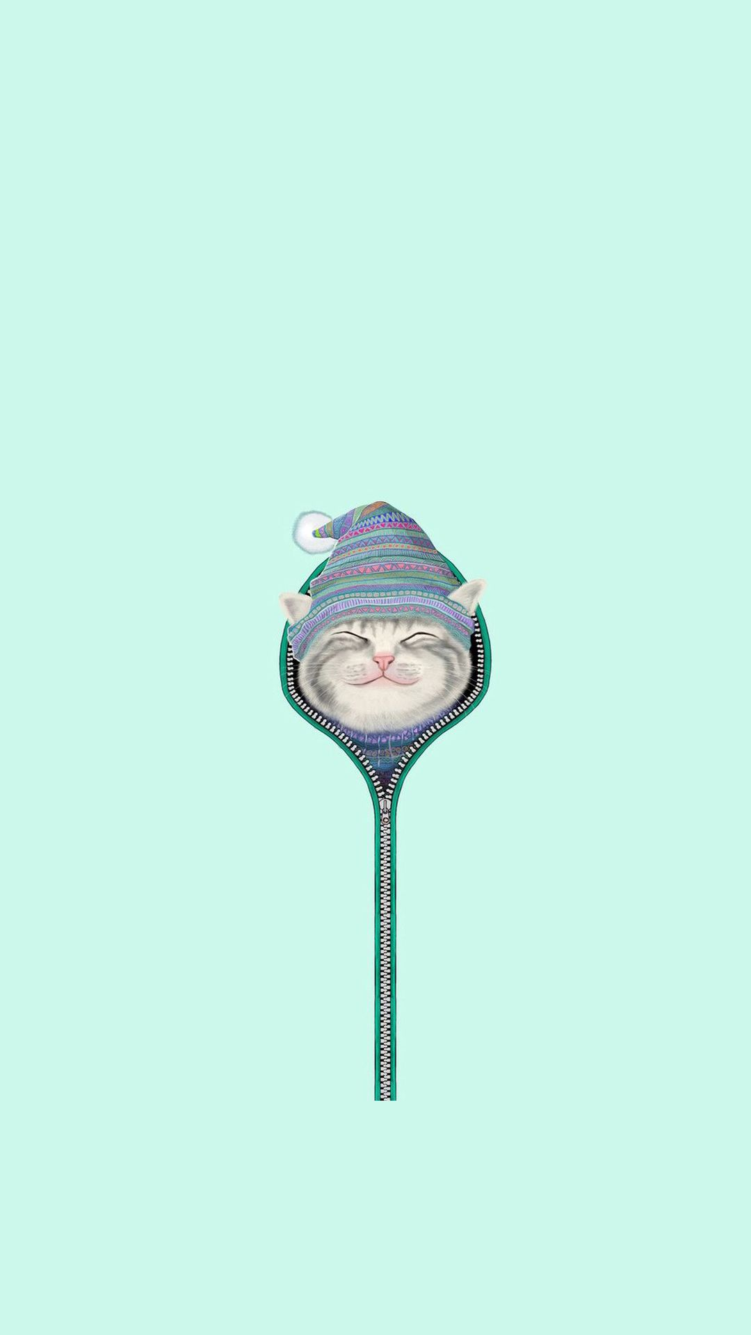 Wallpaper iphone cute cat - Funny Cat Zipper Fur Cap Hat Iphone 6 Hd Wallpaper Http