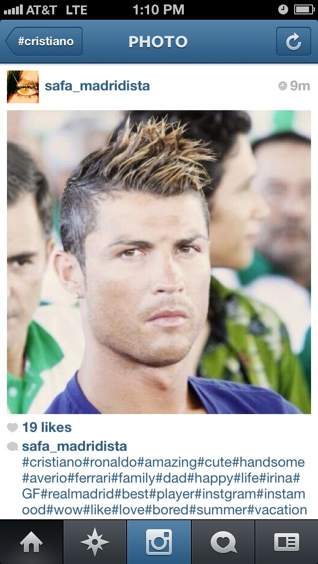 Sexy Hair Blonde Tips Cristiano Ronaldo CRISTIANORONALDO - Cr7 blonde hairstyle